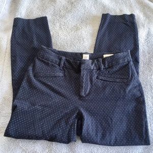Gap Navy Blue Polka Dot Curvy Ankle Skinny Pants